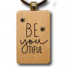 Sleutelhanger hout be you tiful